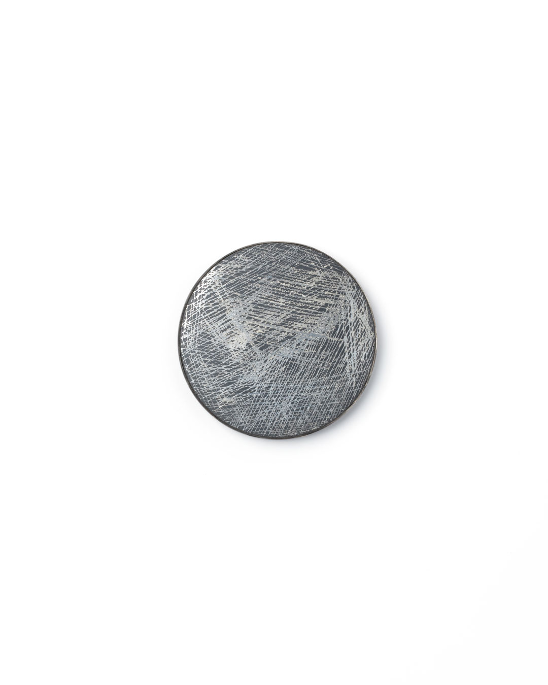 Florian Weichsberger, Moon #9, 2019, brooch; glass mirror, silver, steel, 85 x 85 x 10 mm, €970