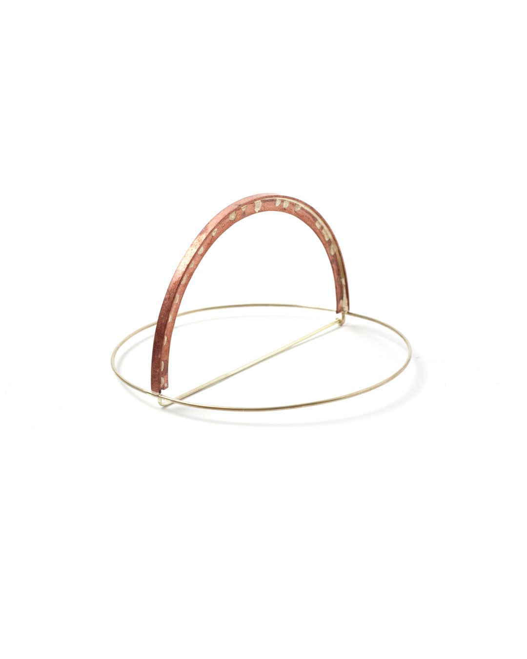 Florian Weichsberger, Sun #8, 2019, brooch; copper, 14ct gold, 75 x 75 x 38 mm, €1335