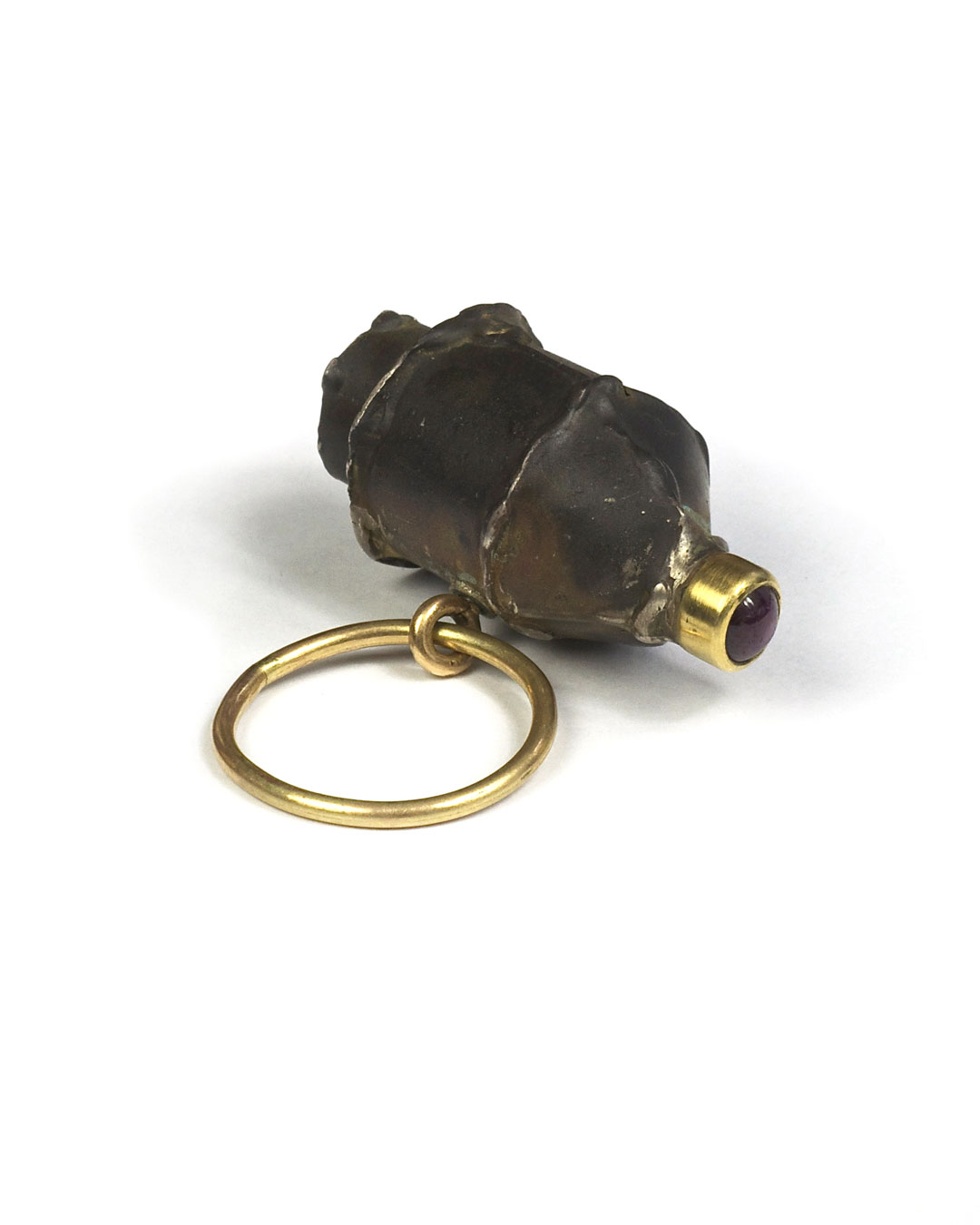 Andrea Wippermann, untitled, 1998, ring; silver, 14ct gold, ruby, 40 x 35 x 19 mm, €1350