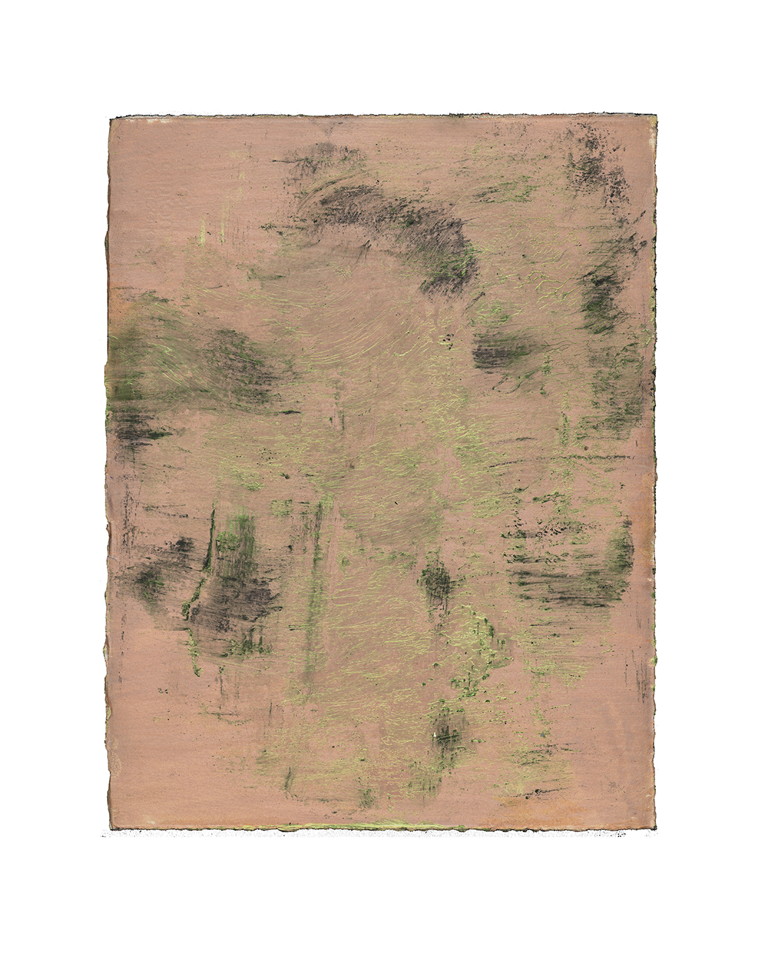 Piet Dieleman, untitled, 2020, painting, pigment, acrylic paint on paper, 380 x 285 mm, €930
