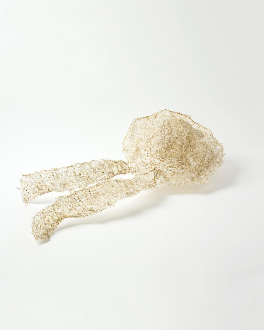Annamaria Leiste, Behütet (Guarded) - P, 2019, brooch; silver, dandelion, linters, abaca, 680 x 310 x 120 mm, €420