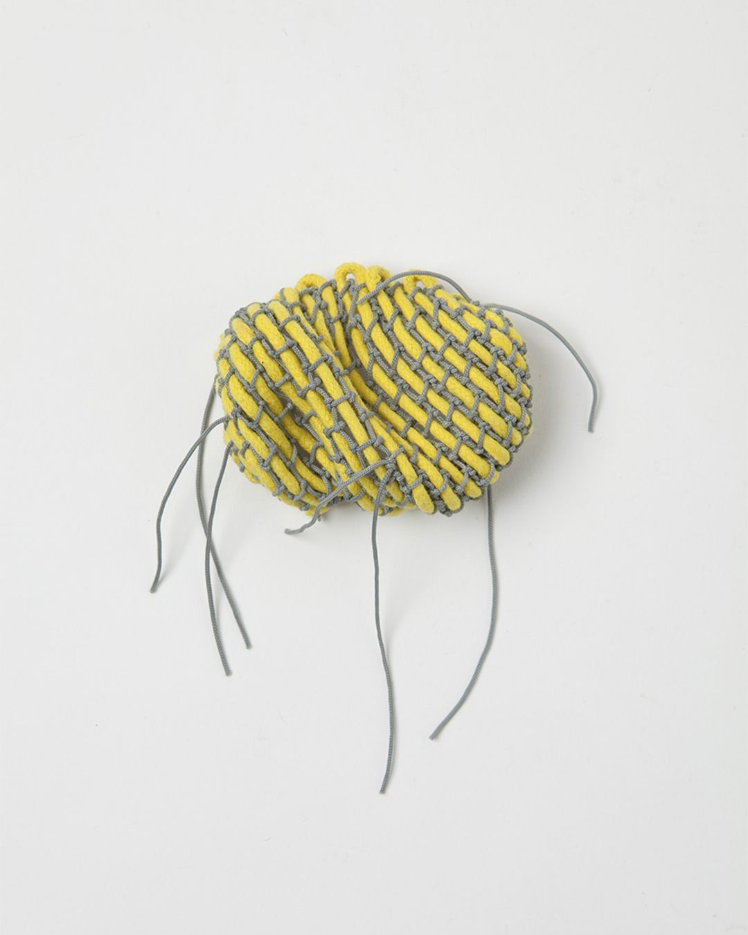 Yellow and Grey, brooch