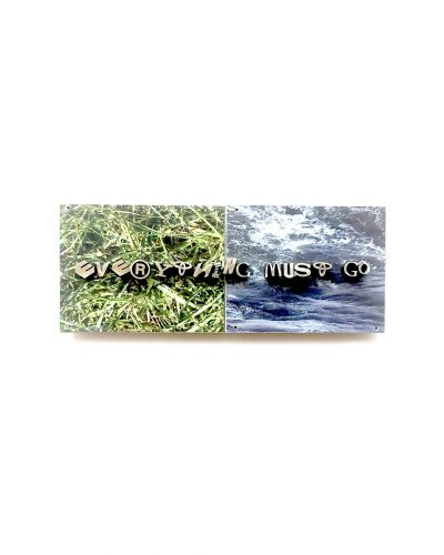 Jonathan Boyd, Everything must go, brooch, silver, UV printed aluminium, 120 x 60 x 20 mm, €1900