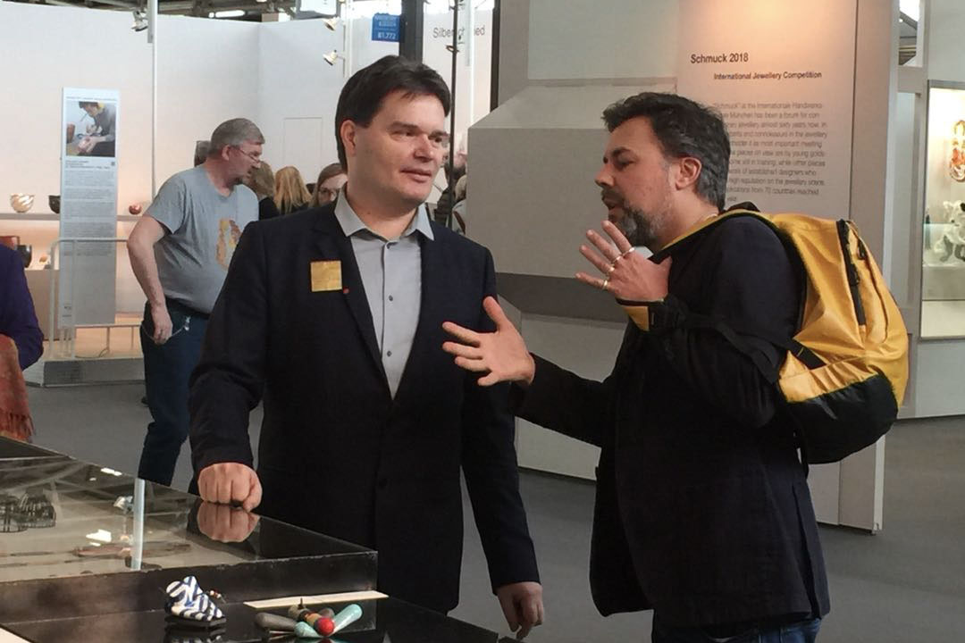 Michiel Heffels (l) and Nicolas Estrada (r) at Schmuck 2018