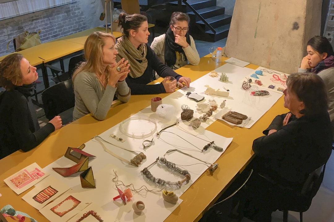 Graduates presenting their work - basement Galerie Marzee
