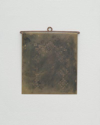 Emelie Liljebäck, The Embroidery Pattern - no. 2025, 2020, pendant/object; copper 220 x 180 mm