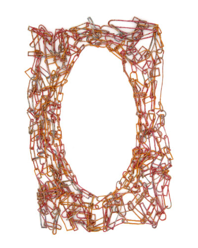 Sun Shiyao, No. 3, 2019, necklace; paper, pigment 670 x 360 x 30 mm