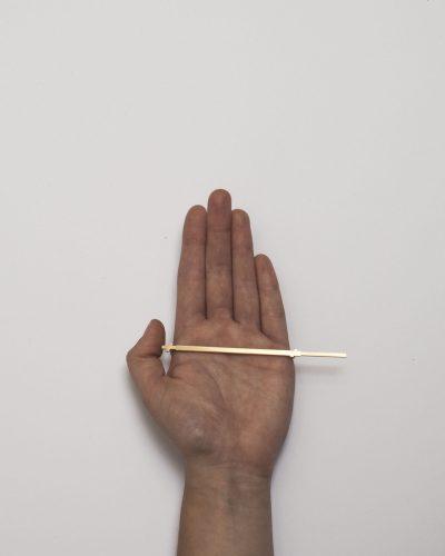 Elise Hoebeke, Personal Unit Tool #3, 2020, object; brass 115 x 30 x 3 mm
