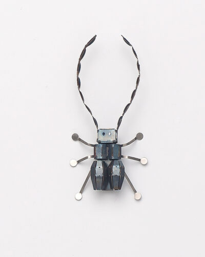 Minseok Kim, Steel Bug 02, 2020, brooch; stainless steel 110 x 52 x 17 mm