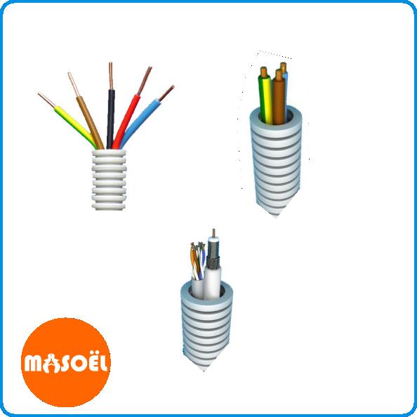 Flexibel buis met draad/kabel