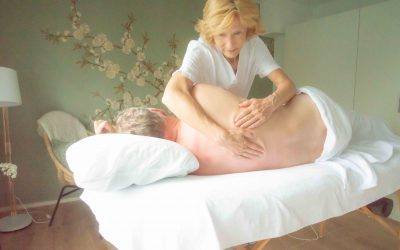 Pregnancy massage and massage in the side position