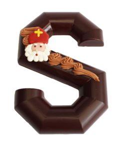 Chocolade letter puur massief