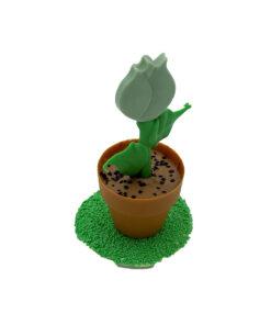 bloempotje groene tulp