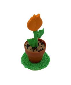 bloempotje oranje tulp