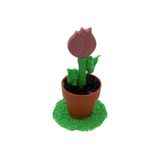 bloempotje roze tulp
