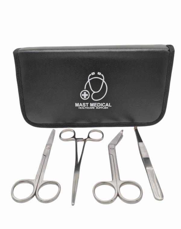 Mast Medical Verpleegkundeset_vooraanzicht-600x758 Verpleegkundeset - scharenset verpleegkundige - kocher schaar - verbandschaar - chirurgische schaar - pincet