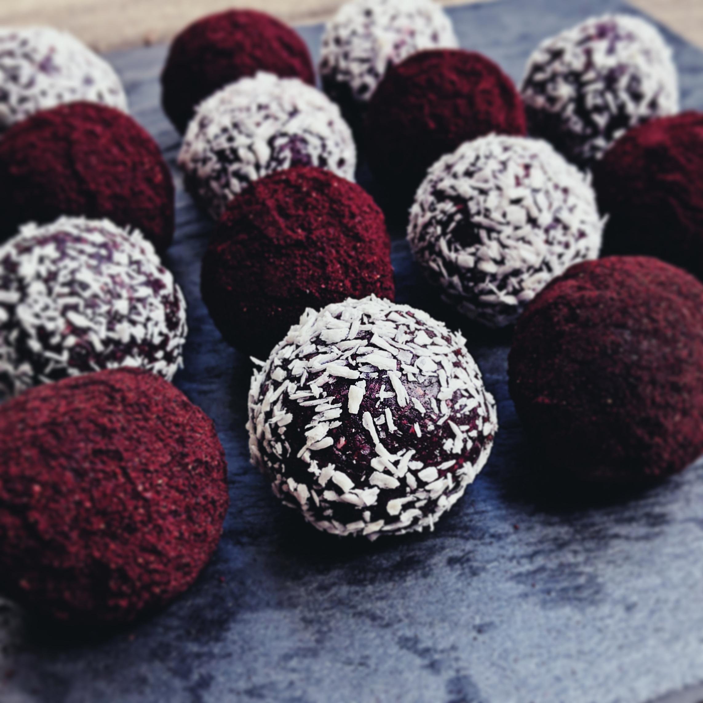 Rawfood Blåbärsbollar