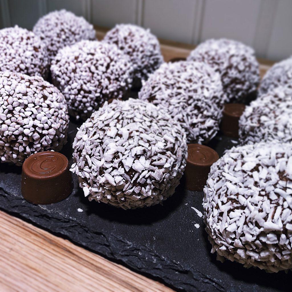 Stora Chokladbollar med Centergömma