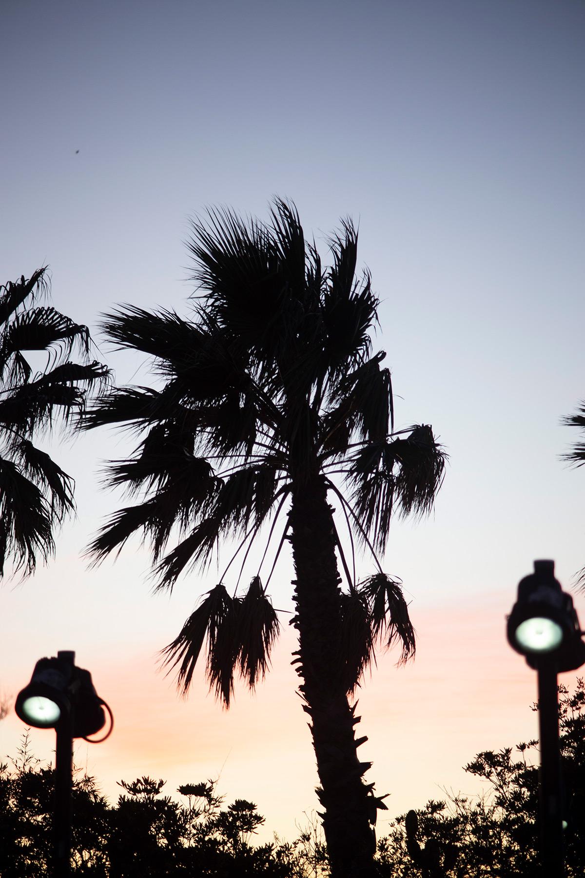 Photographie d'un coucher de soleil depuis la plage des Catalans à Marseille réalisée par la photographe Mathilde Troussard