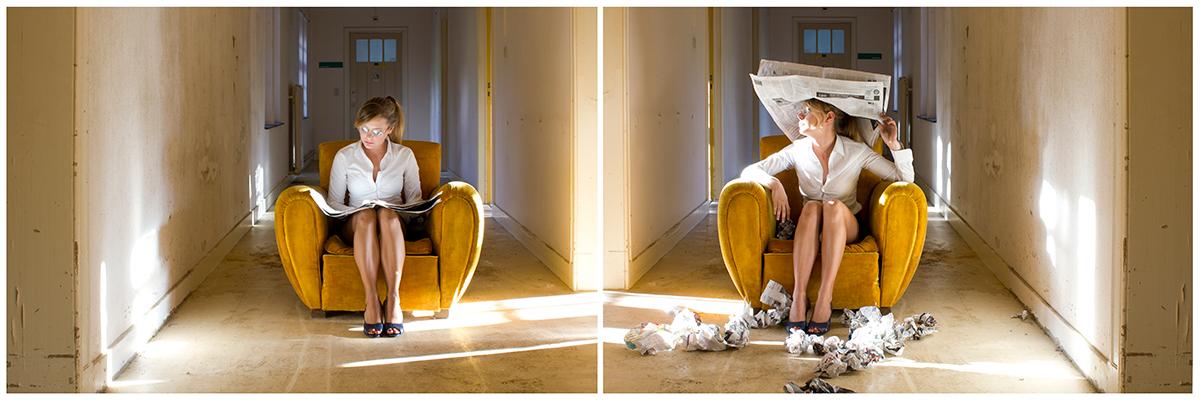Diptyque photographique issu de la série Stranger in the day réalisé par Mathilde Troussard