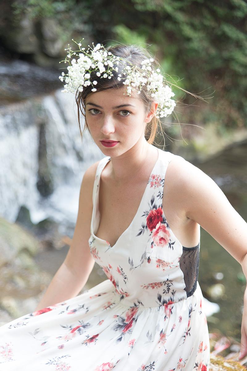 Portrait de mode réalisé par la photographe Mathilde Troussard