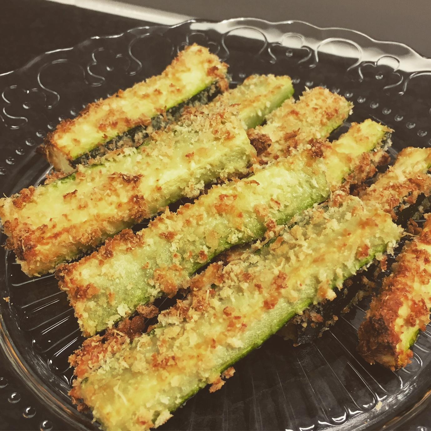 Parmesanpanerad Zucchini