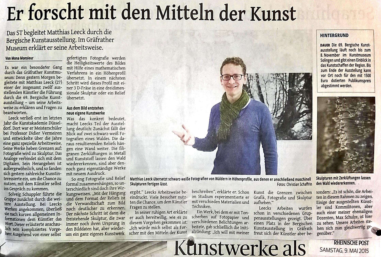 Rheinische Post, 9th of May 2015