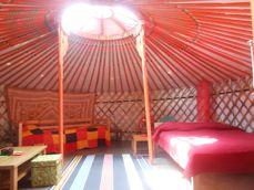 Yurt nomad binnen Casa Boslimpre