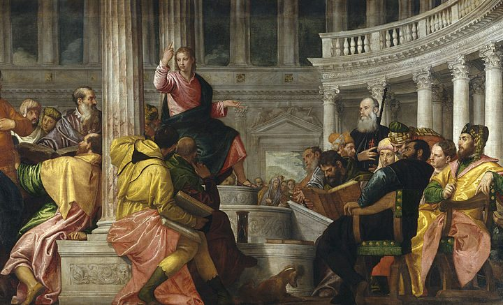 Christ among the Doctors, c. 1560, by Paolo Veronese http://www.museodelprado.es/typo3temp/pics/2ce71c7a65.jpg, Public Domain, https://commons.wikimedia.org/w/index.php?curid=20204530