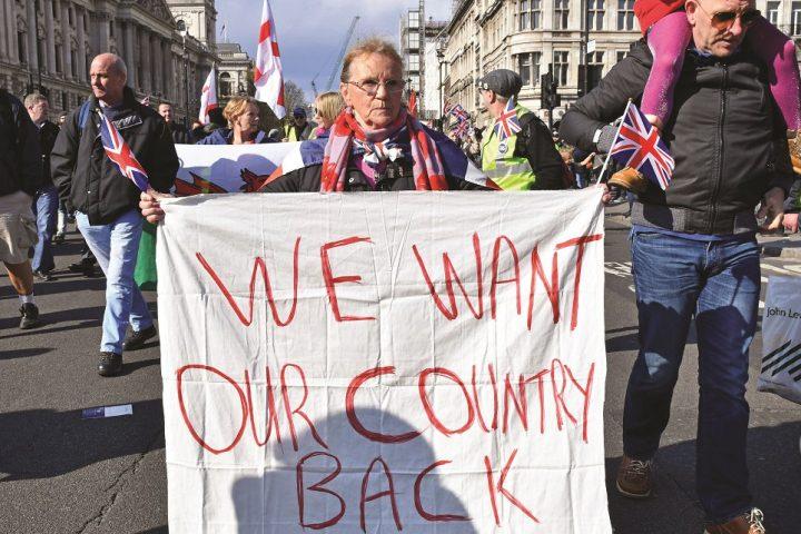 Demonstrație pro-BREXIT, august 2019, Londra