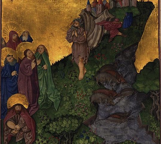 Painting: Ottheinrich-Bibel, Bayerische Staatsbibliothek - Medieval illumination of Jesus exorcizing the Gerasene demoniac from the Ottheinrich Folio - https://en.wikipedia.org/wiki/Exorcism_of_the_Gerasene_demoniac#/media/File:Ottheinrich_Folio051r_Mc5A.jpg