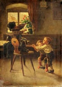 Painting: One Two Three-Marie [Mizzi] Wunsch [1862 – 1898, German] - https://br.pinterest.com/pin/329748003959057730/