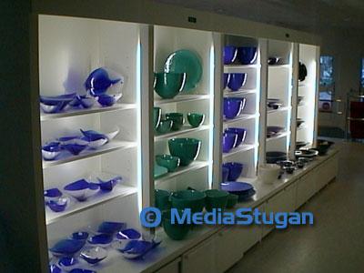 Glass objects from Målerås glass studio.