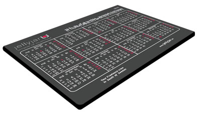 Calendar for 2016 year´s mouse pad.