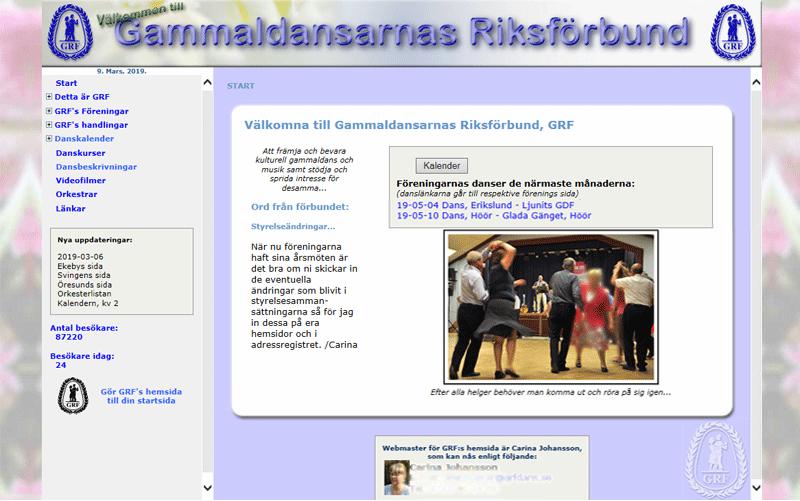 The Swedish Federation of old dances (GRF).