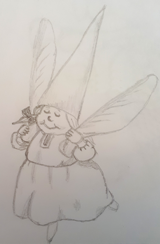 A gnomegirl with maplewings