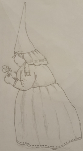 A sketch of Mrs Gnome