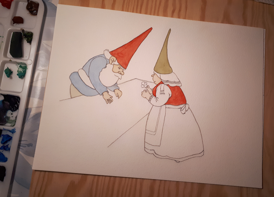 I have started painting the Gnome couple