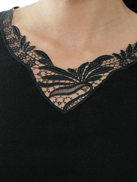 Dames hemd 1175 lange mouwen kant
