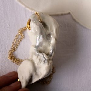 meike janssens - necklace in porcelain