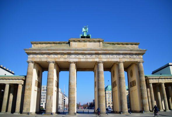 Das Brandenburger Tor in Berlin Mitte