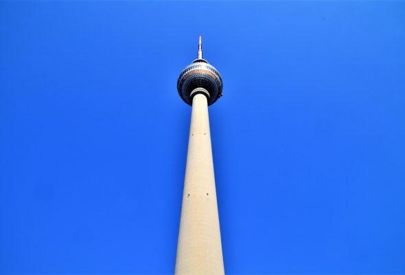 Der Fernsehturm in Berlin Mitte