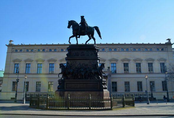 Das Reiterstandbild vom Friedrich des Großen