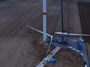 Werken aan windmolen