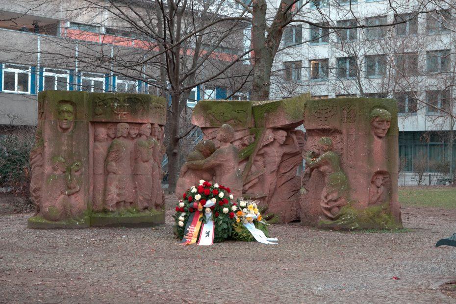 Ansicht Denkmal Rosenstraße, Block der Frauen.