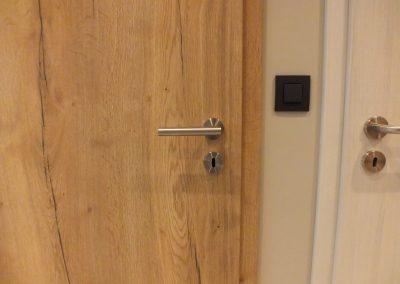 Bloc-porte CPL finition Touch Eich Atholz avec fil vertical et poignée en inox