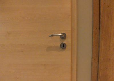 Bloc-porte CPL finition Touch Oak avec fil horizontal et poignée en inox