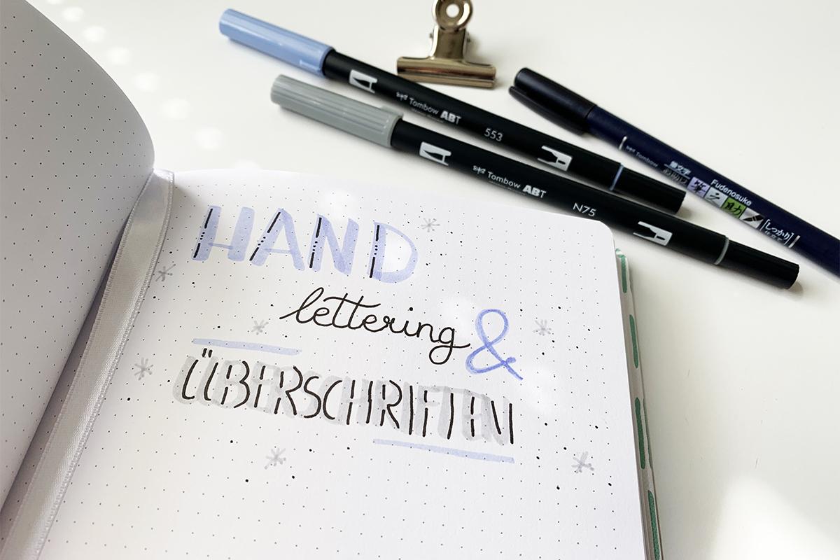 Überschriften gestalten mit Handlettering