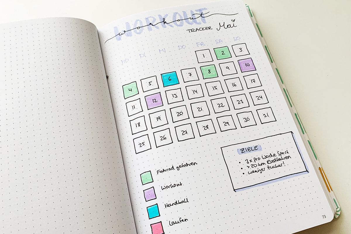 Bullet Journal als perfekter Trainingspartner