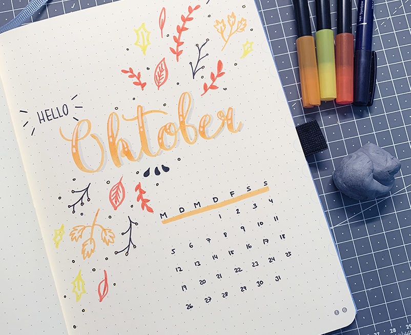 Oktober Bullet Journal Setup 2020